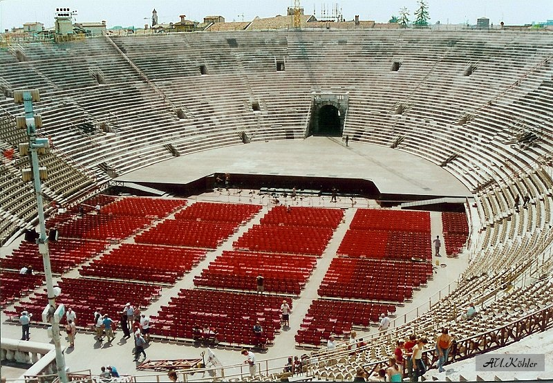 verona arena view of the stage. Black Bedroom Furniture Sets. Home Design Ideas