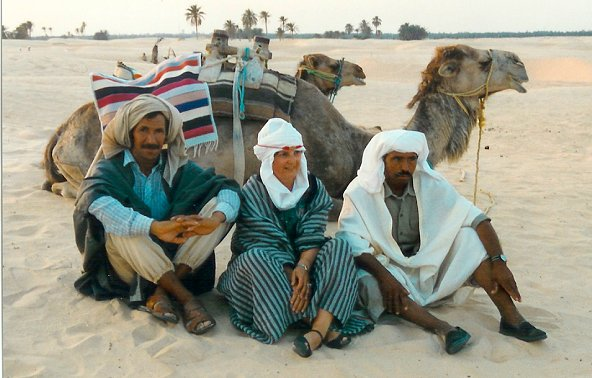 rest with Beduines in the Tunisian desert